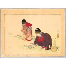 富岡英泉: Picking Flowers - Artelino