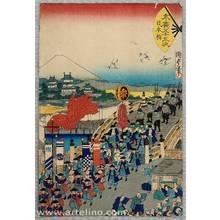 Utagawa Kunisada III: Suehiro 53 Stations of Tokaido - Nihonbashi - Artelino