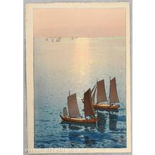 吉田博: Sailing Boats on the Sea - Artelino