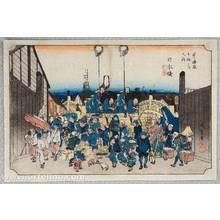 Utagawa Hiroshige: Nihonbashi - Fifty-three Stations of the Tokaido (Hoeido) - Artelino