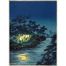 小林清親: Fireflies at Night - Artelino
