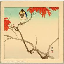 静湖: Blue Bird and Red Leaves - Artelino