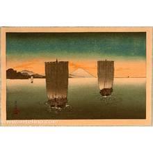無款: Sail Boats and Mt. Fuji. - Artelino