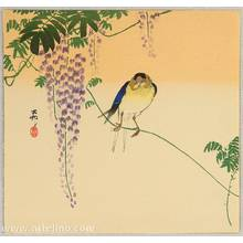 小原古邨: Barn Swallow on Wisteria - Artelino