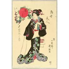 Utagawa Kunitsuna: Beauty of Mutsuki - Artelino