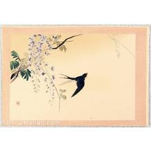 梶田半古: Twelve Months of Japan, Birds and Plants - Swallow and Wisteria - Artelino
