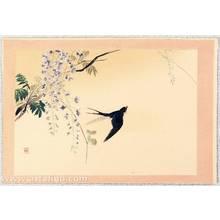 Kajita Hanko: Twelve Months of Japan, Birds and Plants - Swallow and Wisteria - Artelino