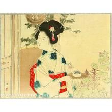 Mizuno Toshikata: Serving Tea - Artelino