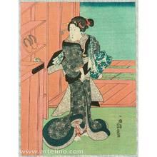 Utagawa Yoshitora: Beauty from Public Bath - Artelino