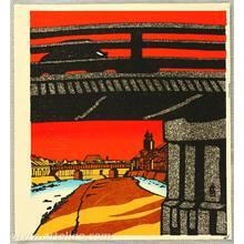 Tokuriki Tomikichiro: Sanjo Bridge in Sunset Glow - Artelino