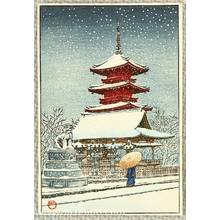 Kawase Hasui: Temples in the Snow - Artelino