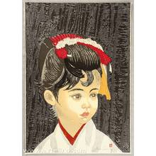 Sekino Junichiro: Girl with Hair Ornament - Takekurabe - Artelino