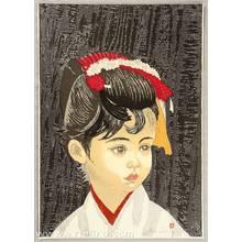 Sekino Junichiro: Girl with Hair Ornament - Takekurabe - Artelino