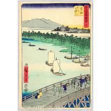 歌川広重: Yoshida - Upright Tokaido - Artelino