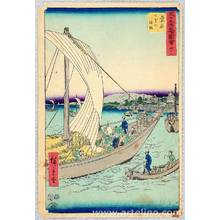 歌川広重: Kuwana - Upright Tokaido - Artelino