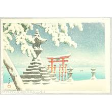 川瀬巴水: Snow at Miyajima - Artelino