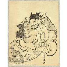 Utagawa Toyohiro: Ebisu and Red Sea Bream - Artelino