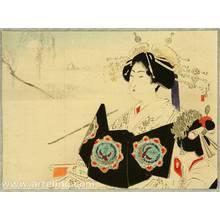 Mizuno Toshikata: Courtesan and Moon - Artelino
