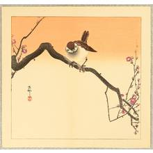小原古邨: Sparrow on Plum Branch - Artelino