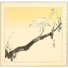 月岡耕漁: Egret on a Branch - Artelino