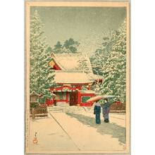 川瀬巴水: Snow at HinoeShrine - Artelino