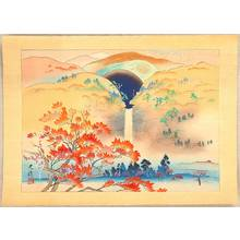 Iijima Koga: Nachi Waterfall in Autumn - Artelino