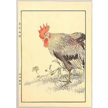 今尾景年: Rooster and Hen - Keinen Gafu - Artelino