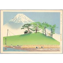 Tokuriki Tomikichiro: Fuji from a Rice Field - Thirty-six Views of Mt.Fuji - Artelino