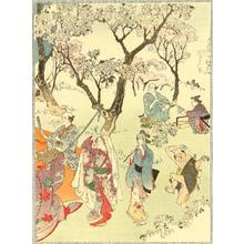 富岡英泉: Cherry Blossoms Viewing Party. - Artelino
