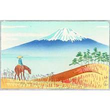 Fujishima Takeji: Mt. Fuji and Horse Rider - Artelino