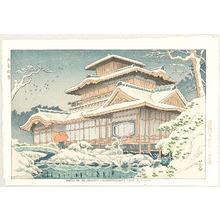 Fujishima Takeji: Snow in Hiunkaku Pavilion at Nishihonganji - Artelino