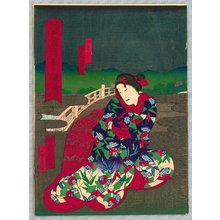 歌川芳滝: Lady on the Bridge - Kabuki - Artelino