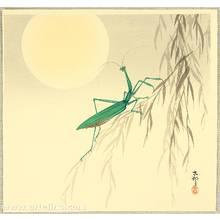 小原古邨: Praying Mantis and the Moon - Artelino