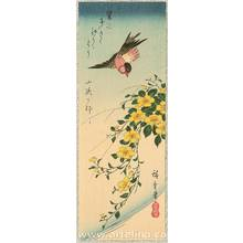 歌川広重: Bird and Yellow Flowers - Artelino