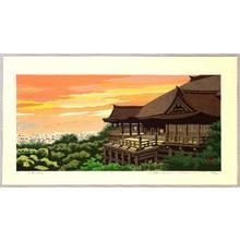 Maeda Masao: Kiyomizu Temple in Evening Glow - Artelino