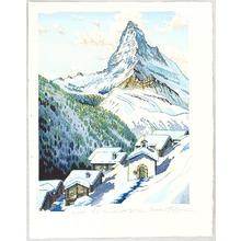 Morozumi Osamu: Mt. Matterhorn, Findeln - Switzerland - Artelino
