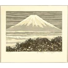 北岡文雄: Snow Capped Mt. Fuji - Artelino
