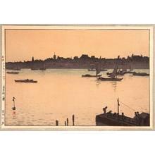 Yoshida Hiroshi: Sumida River (Evening) - Twelve Scenes of Tokyo - Artelino