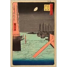歌川広重: 100 Famous Views of Edo - Tsukuda Island - Artelino