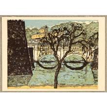 Onchi Koshiro: Nijubashi Bridge - 100 New Views of Tokyo - Artelino