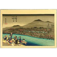 歌川広重: Evening Cool at Shijo River - Artelino