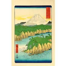 歌川広重: Thirty-six Views of Mt.Fuji - Lake at Hakone - Artelino
