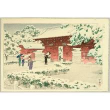 Kasamatsu Shiro: Red Gate at Hongo in Snow - Artelino