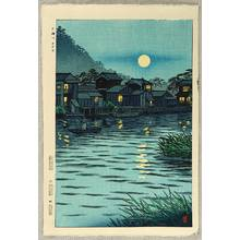 Kasamatsu Shiro: Rising Moon at Katase River - Artelino
