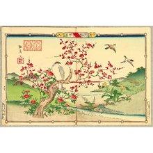 Utsushi Rinsai: Rinsai's Bird and Flowers - Hawk and Red Plum - Artelino