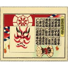 Ueno Tadamasa: Kabuki Kumadori Awase - Kumadori and Tsuzumi - Artelino
