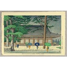 Fujishima Takeji: Rain in Sanjusangendo Temple - Kyoto - Artelino