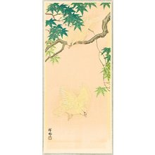 Ohara Koson: Sparrows in Maple Tree - Artelino