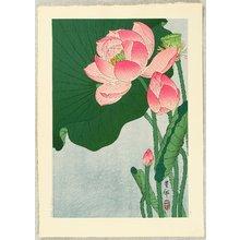 Ohara Koson: Flowering Lotus - Artelino