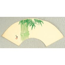 Takeuchi Seiho: Bamboo on Fan - Artelino